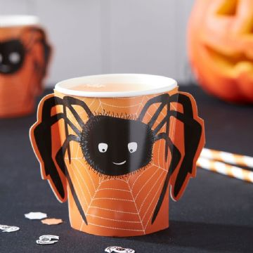 Halloween Spooky Spider Paper Cups - pack of 8